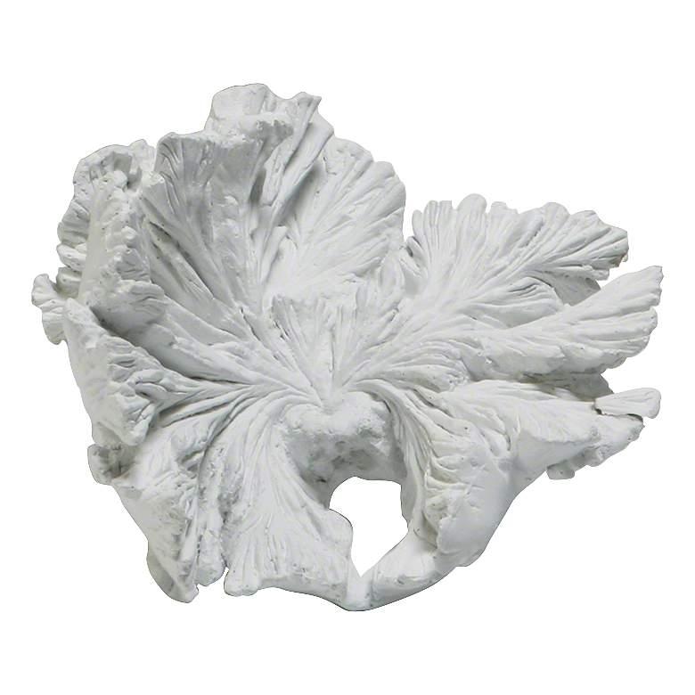 "Volcano Medium White 8""W Eco-Stone Mayan Flower Accent"