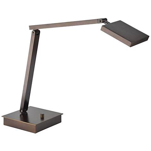 TaskWerx Bronze Adjustable Urban LED Task Desk Lamp