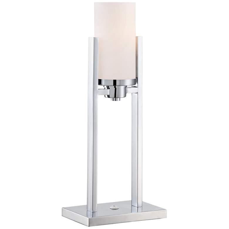 Lite Source Caesarea 2-Post Chrome Fluorescent Table Lamp