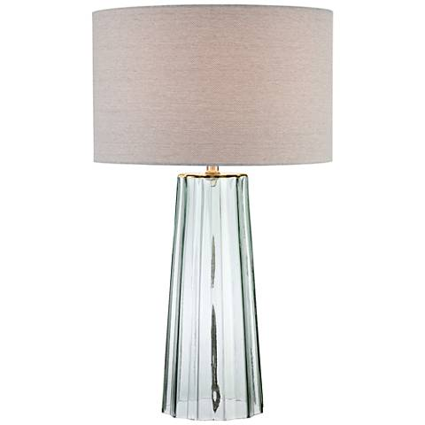 Lite Source Rogelio Clear Glass Tapered Column Table Lamp