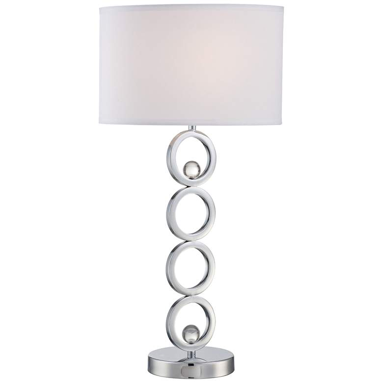 Lite Source Celestine Chrome Stacked 4-Ring Table Lamp