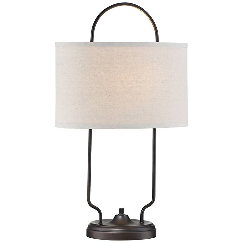 Lite Source Baldwin Vintage Bronze Linear Table Lamp