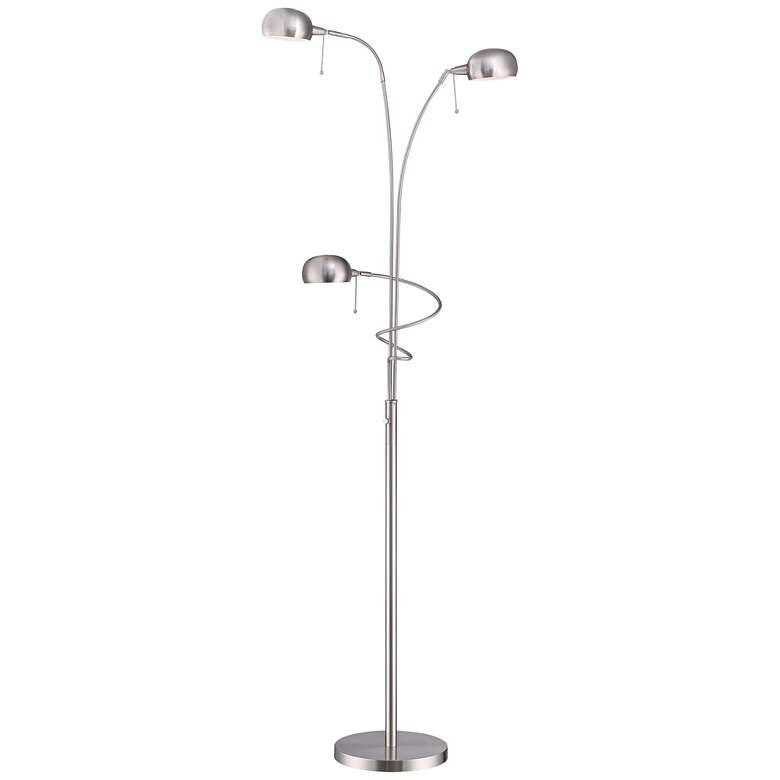 Lite Source Denzel Steel 3-Light Reading Arc Floor Lamp