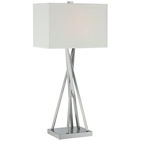 Lite Source Frasco Polished Steel Rod Linear Table Lamp