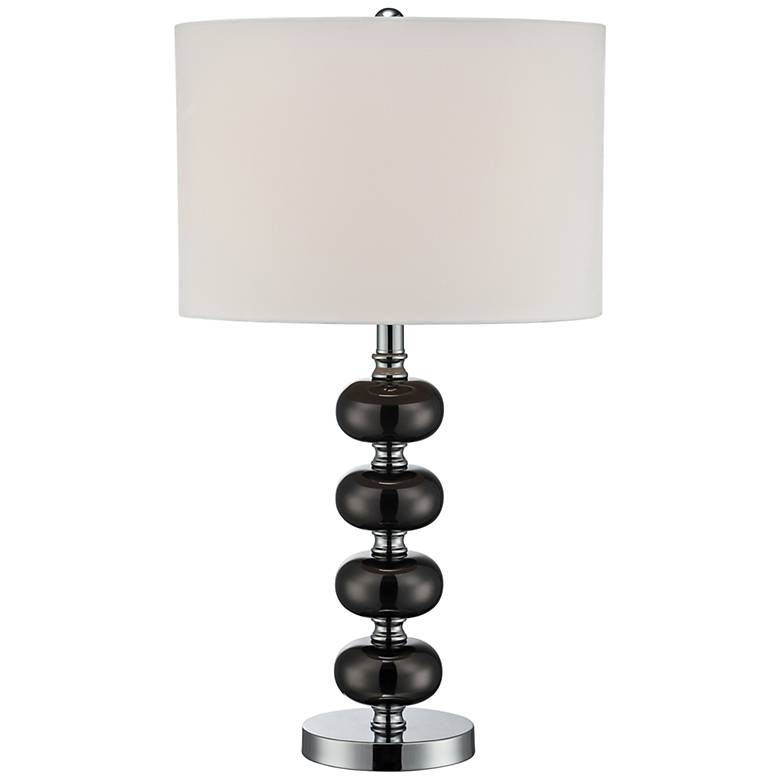 Lite Source Mistico Gunmetal Stacked Orb Table Lamp