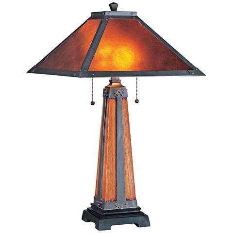 Lite Source Micah Dark Bronze Tiffany Style Table Lamp