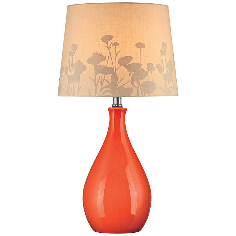 Lite Source Edaline Orange Ceramic Modern Table Lamp