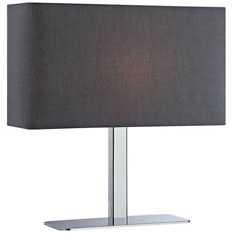Lite Source Levon Black Shade Rectangular Accent Table Lamp