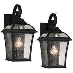 Black outdoor lighting lamps plus set of 2 mosconi 15 aloadofball Gallery