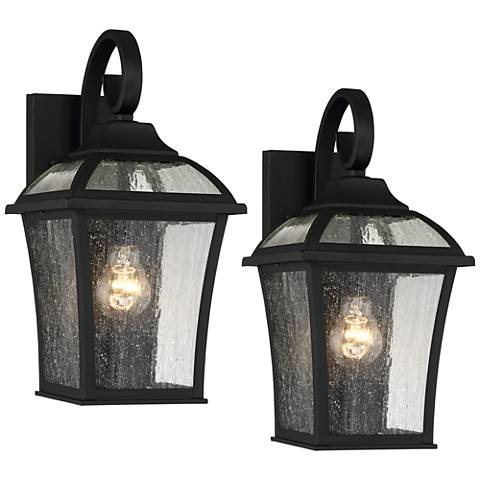 Set of 2 mosconi 15 high black outdoor wall lights 1n896 lamps set of 2 mosconi 15 high black outdoor wall lights aloadofball Choice Image