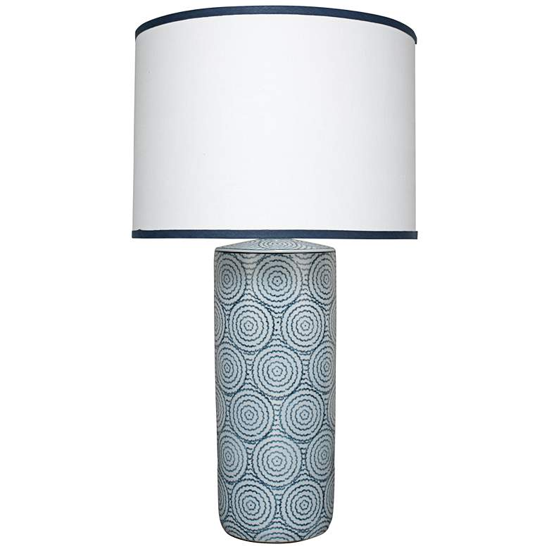 Jamie Young Hampton Blue and White Ceramic Table Lamp