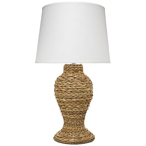 Jamie Young Charter Natural Seagrass Table Lamp