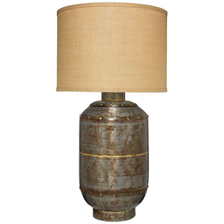 Jamie Young Caisson Extra Large Gun Metal Table Lamp