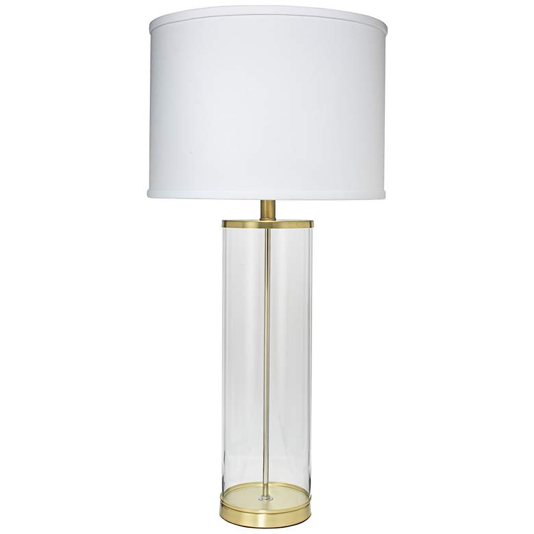 Jamie Young Rockefeller Brass Glass Table Lamp
