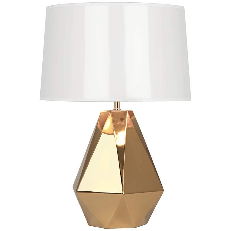 Robert Abbey Delta Gold Metallic Glaze Ceramic Table