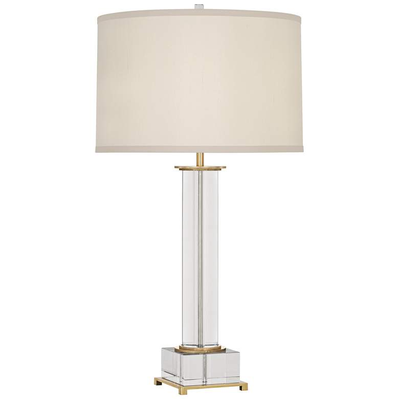 Finnie Antique Brass and Crystal Table Lamp