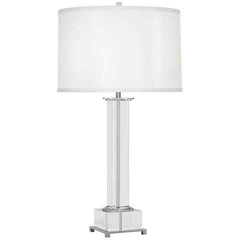 Finnie Polished Nickel and Crystal Table Lamp