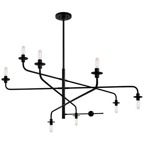 """Sonneman Atelier 60"""" Wide Satin Black Pendant Light"""