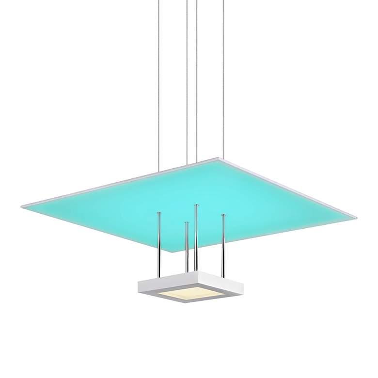 """Chromaglo™ Spectrum 20""""W Satin White LED Pendant Light"""