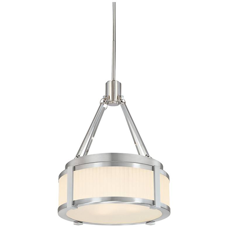 "Sonneman Roxy 12 1/2"" Wide Satin Nickel Pendant Light"