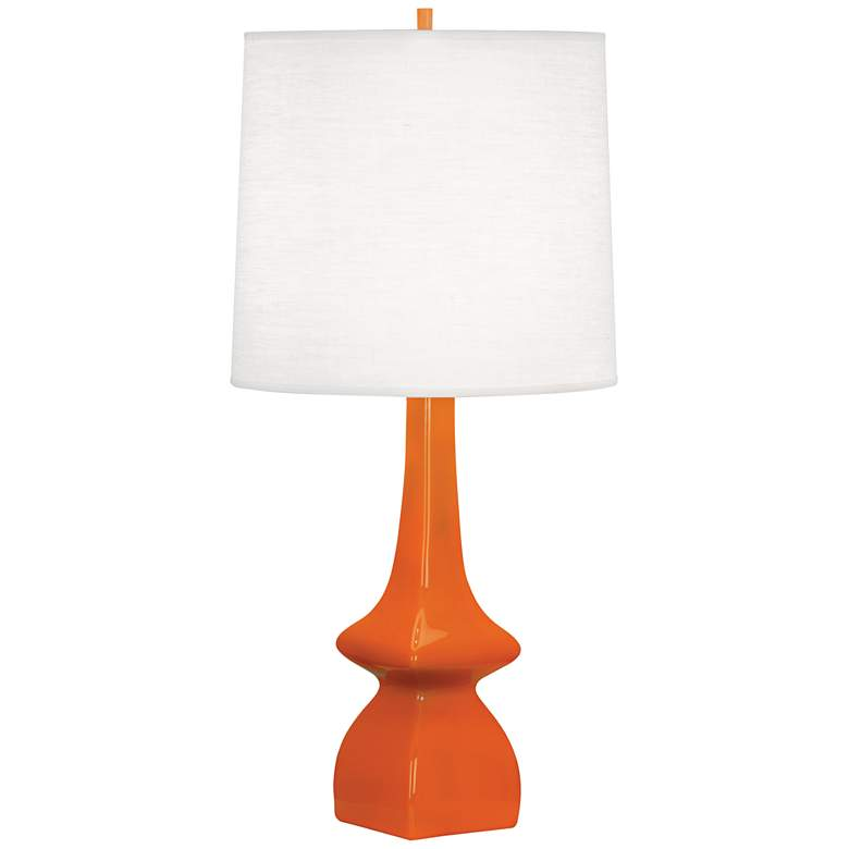 Robert Abbey Jasmine Pumpkin Orange Ceramic Table Lamp