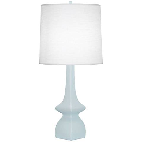 Robert Abbey Jasmine Baby Blue Ceramic Table Lamp