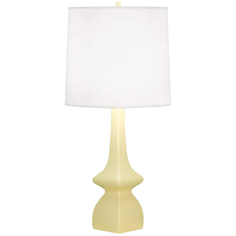 Robert Abbey Jasmine Butter Yellow Ceramic Table Lamp
