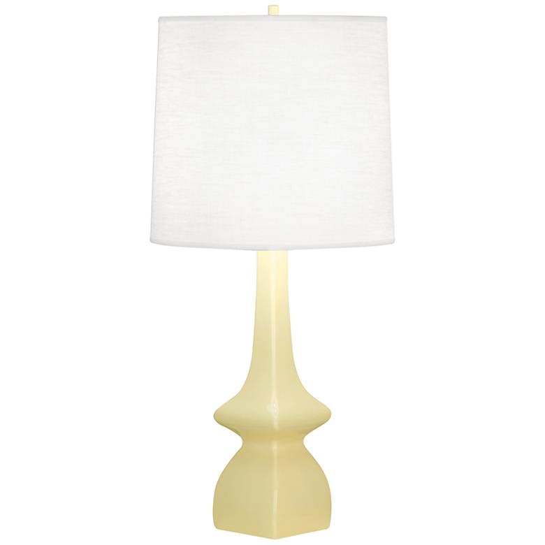 Robert Abbey Jasmine Butter Yellow Ceramic Table Lamp