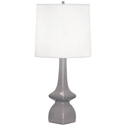 Robert Abbey Jasmine Smokey Gray Taupe Ceramic Table Lamp