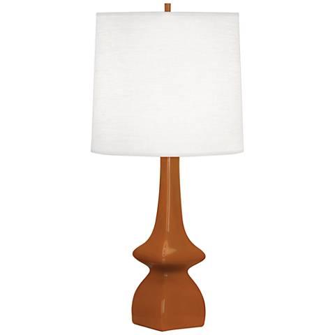 Robert Abbey Jasmine Cinnamon Brown Ceramic Table Lamp