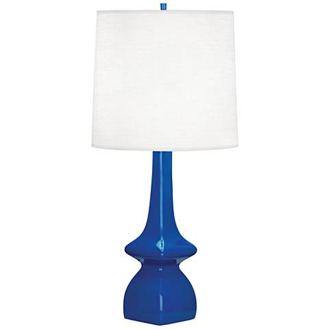 Robert Abbey Jasmine Marine Blue Ceramic Table Lamp