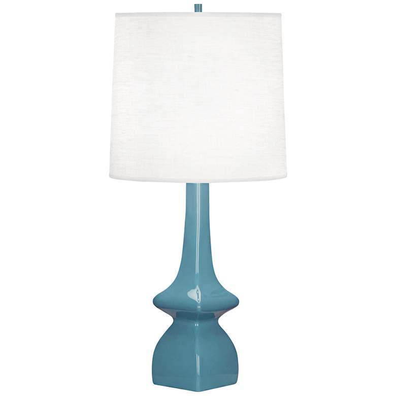 Robert Abbey Jasmine Steel Blue Ceramic Table Lamp