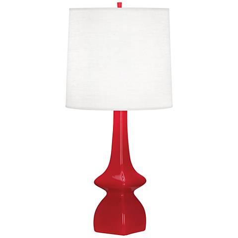 Robert Abbey Jasmine Ruby Red Ceramic Table Lamp
