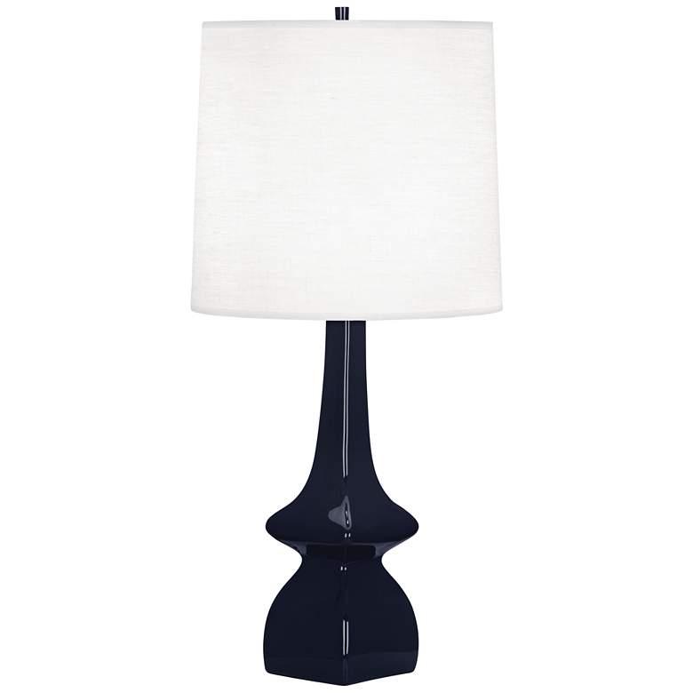 Robert Abbey Jasmine Midnight Blue Ceramic Table Lamp