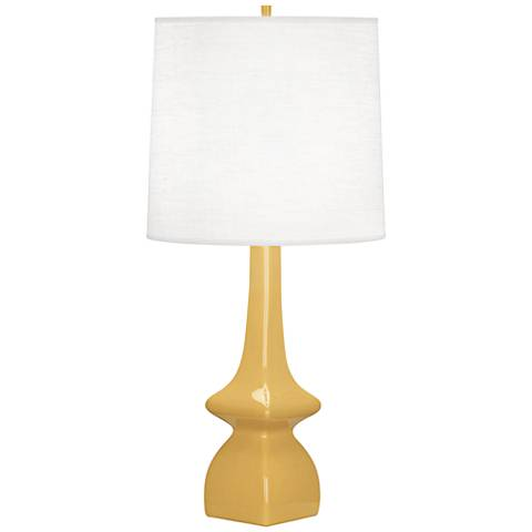Robert Abbey Jasmine Sunset Yellow Ceramic Table Lamp