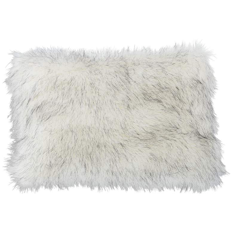 """Polar Bear White 20"""" x 14"""" Plush Faux Fur Pillow"""