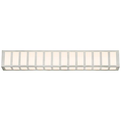 "Sonneman Capital 35"" Wide Satin Nickel LED Bath Light"