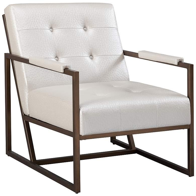 INK + IVY Waldorf Antique Bronze Metal Lounge Chair