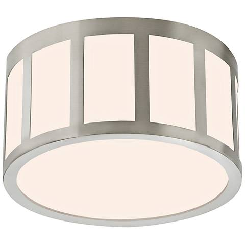 "Sonneman Capital 9""W Satin Nickel Round LED Ceiling Light"