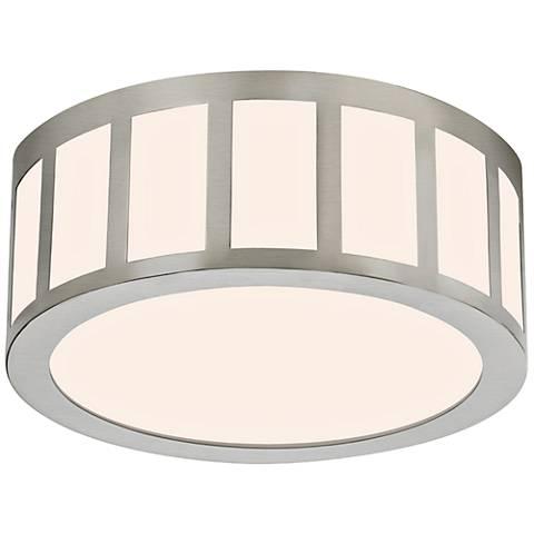 "Sonneman Capital 12""W Satin Nickel Round LED Ceiling Light"