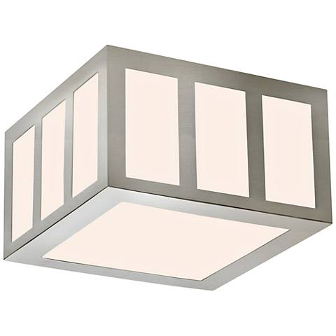 "Sonneman Capital 8""W Satin Nickel LED Ceiling Light"
