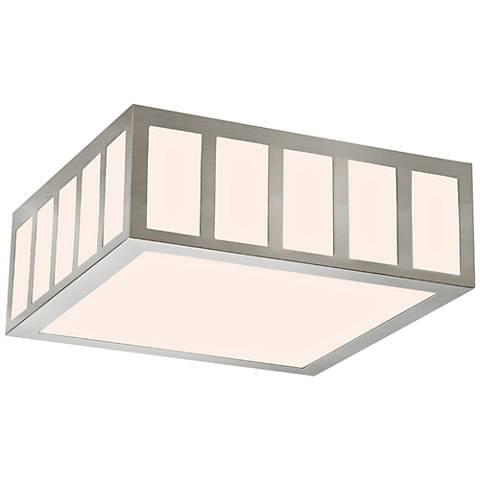 "Sonneman Capital 12 1/2"" Wide Satin Nickel LED Ceiling Light"