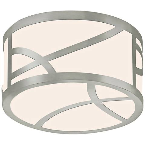 "Sonneman Haiku 8"" Wide Satin Nickel Round LED Ceiling Light"