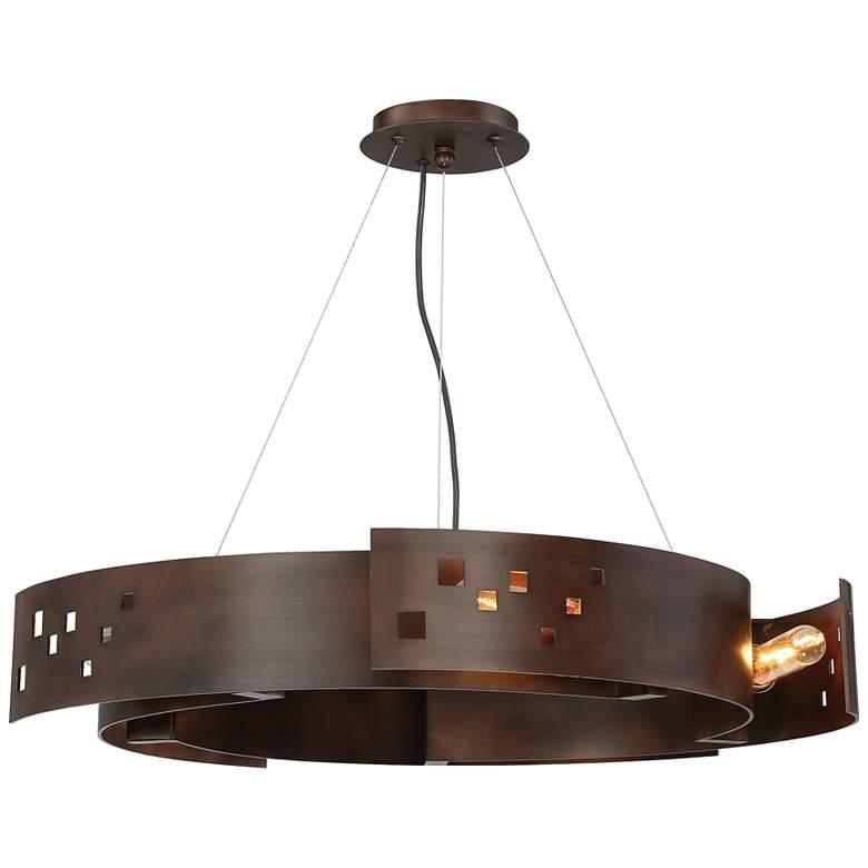 "Savoy House Odessa 24"" Wide Bronze Ore Pendant Light"