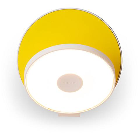 "Koncept Gravy 5"" High Matte Yellow Plug-In LED Wall Sconce"
