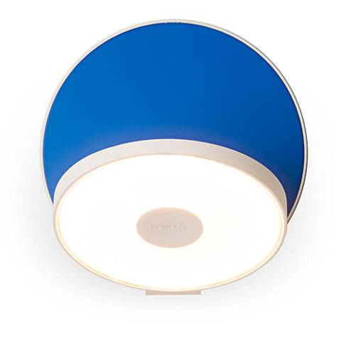 "Koncept Gravy 5"" High Matte Blue Plug-In LED Wall Sconce"