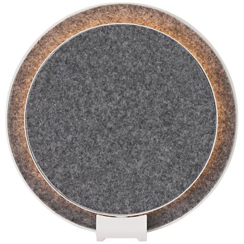 "Koncept Gravy 5"" High Oxford Felt Plug-In LED Wall Sconce"