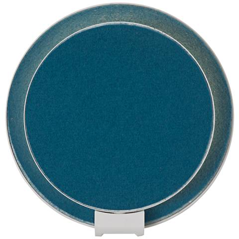 "Koncept Gravy 5"" High Azure Felt Plug-In LED Wall Sconce"