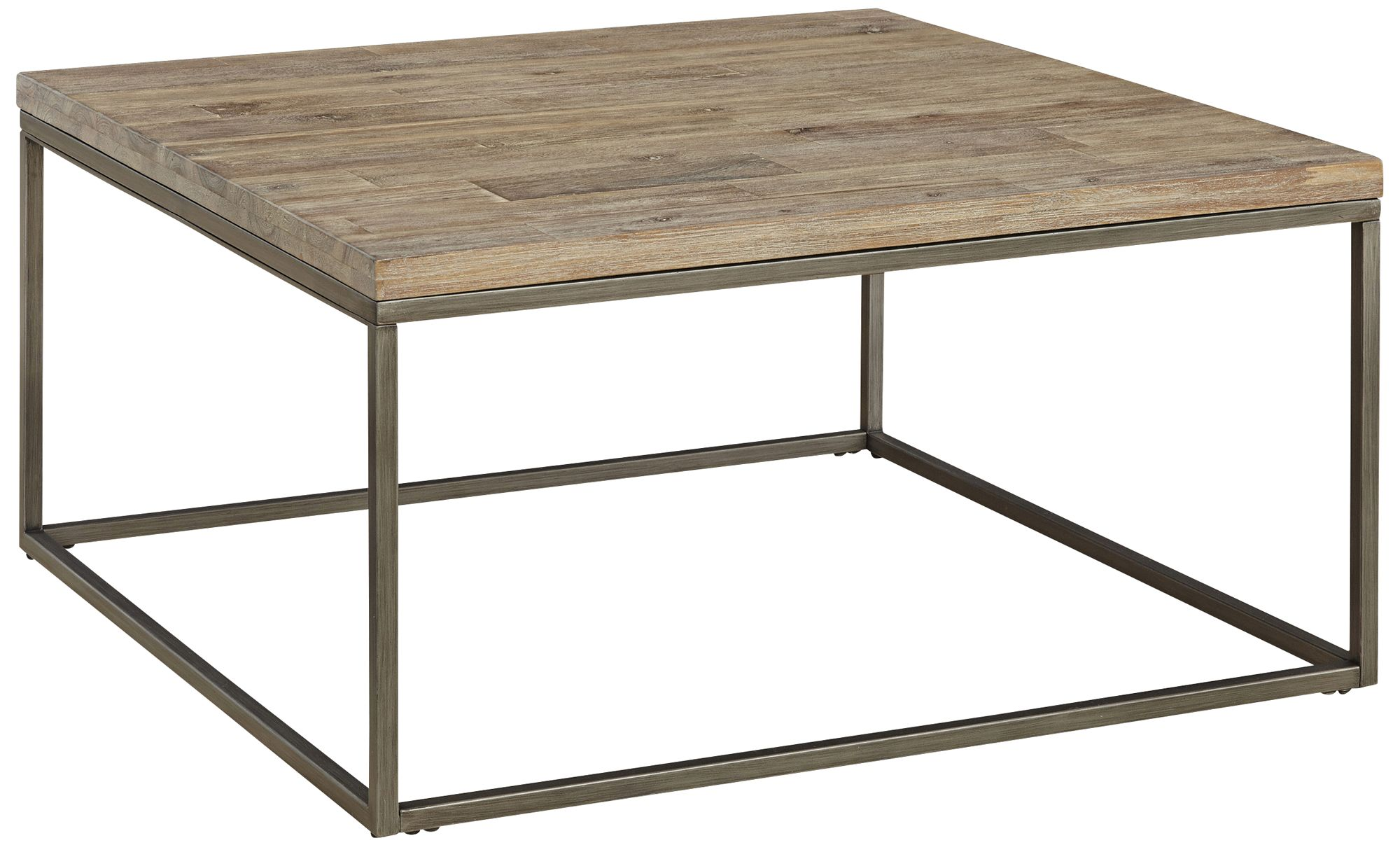 Alana Steel And Acacia Wood Top Square Coffee Table