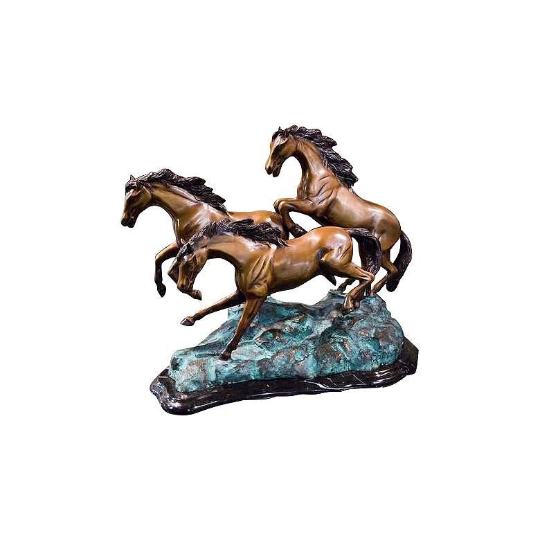 "Henri Studio 3 Galloping 13 1/2""W Bronze Horse"